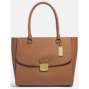 Coach Large Leather Avary Tote Tan NWT